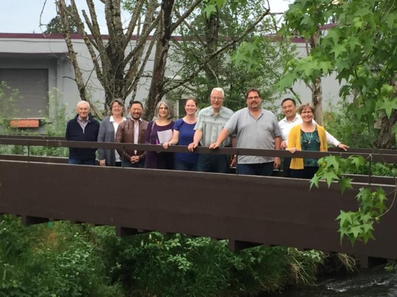 Left to Right: Bob Sanders, Marianne Colgrove, Roy Iwai, Mary Ann Schmidt,  Melanie Klym, Dick Schubert, John Nagy, Vinh Nguyen, Marie Walkiewicz