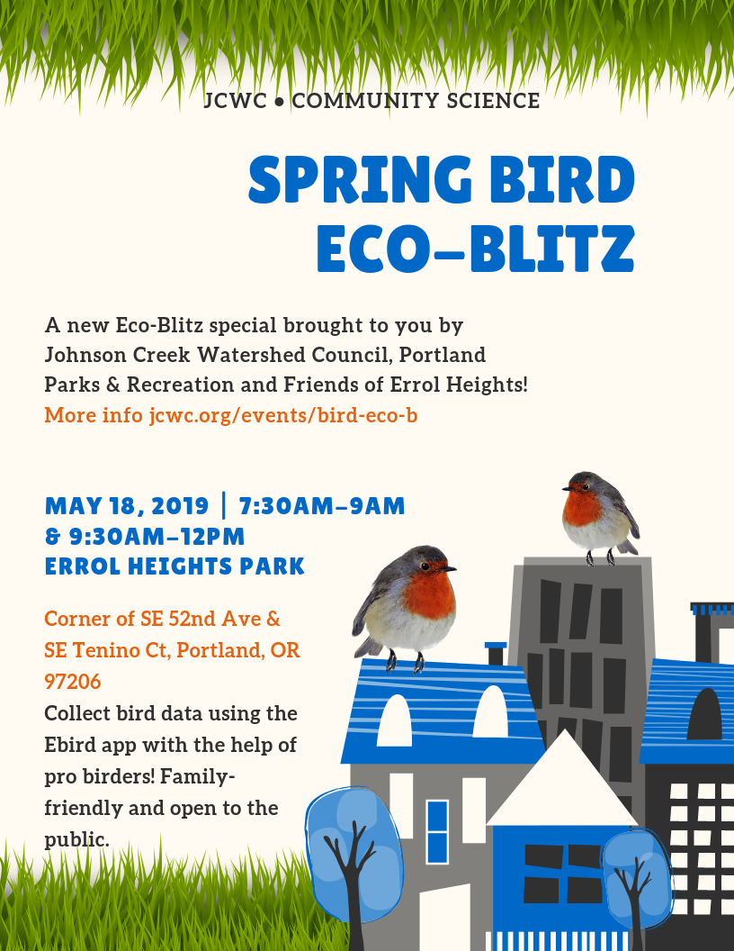 Spring Bird Eco-Blitz – Johnson Creek Watershed Council